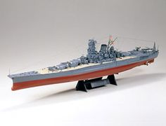 """The Tamiya 1/350 Japanese Battleship Musashi is a plastic model kit in the Tamiya 1/350 Ship Plastic Model Kits range. This plastic Ship kit requires paint and glue to complete.    Just prior to the conclusion of WWI, the Japanese Navy was considering to modernize their aging fleet with a very strong and powerful line of new warships, called the """"Eight-Eight"""" squadron. This concept was to include 8 new battleships and 8 new battle cruisers. In addition to these 16 capital ships, 4 huge…"""