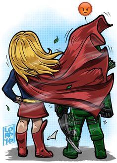 """Lord mesa art """"No Capes!"""" #Supergirl #Arrow"""