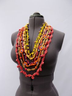 Crochet+Beads+with+Glass+and+Stone+Imitation+by+KnittedParadise,+$75.00