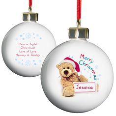 Teddy Christmas Bauble £10.99