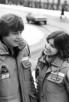 Carrie Fisher and Mark Hamill in Norway, 1979