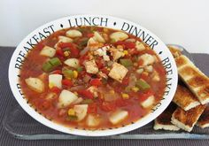 Our recipe for Catfish Stew features Margaret Holmes perfectly seasoned Tomatoes, Okra & Corn. Recipe For Catfish Stew, Southern Catfish Stew Recipe, Catfish Recipes, Shrimp Recipes, Crockpot Recipes, Soup Recipes, Cooking Recipes, Fresh Water Fish Recipe, Seafood Stew