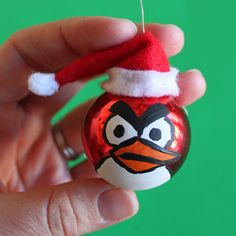 DIY:: Angry Birds -- Christmas Ornaments! » Dollar Store Crafts