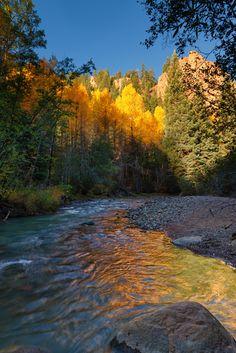 ~~Fall Colors, Colorado | Aspen Trees, reflecting into Geneva Creek. Colorado | by mclcbooks~~
