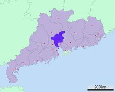 Localização de Guangzhou, Guangdong