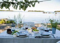 Outdoor Spaces, Outdoor Living, Outdoor Decor, Finland Summer, The Fresh, Scandinavian Design, Exterior Design, A Table, Summer Time