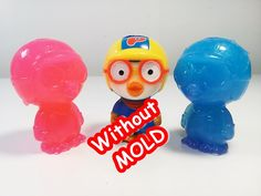 DIY How To Make PORORO Jelly Pudding Without Mold 몰드없이 뽀로로 젤리 푸딩 만들기 놀이 ...