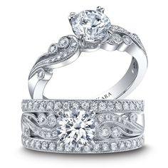 Handcrafted & gorgeous #engagement & #wedding #rings! // Kirk Kara