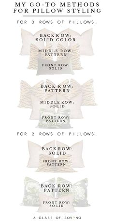 Throw pillow combinations, sizes and styles to use in your bedroom bedroom bedding Pillow Talk: My Go-To Methods For Styling A Bed & 16 Bold Combinations To Use In Your Bedroom Bed Pillow Arrangement, Neutral Bedrooms, Modern Bedrooms, Small Bedrooms, Trendy Bedroom, Master Bedroom Makeover, Bedding Master Bedroom, Gray Bedroom, Modern Bedroom Design