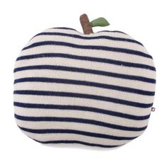 STRIPED APPLE PILLOW