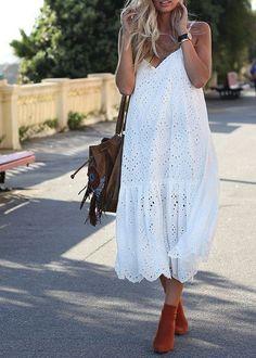 ZARA LONG EMBROIDERED STRAPPY LACE DRESS MAXIKLEID SPITZE STICKEREI SIZE M  | eBay