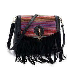 a30187a316 Crossbody fringe bag. Tote HandbagsFashion HandbagsLadies HandbagsLeather  ...
