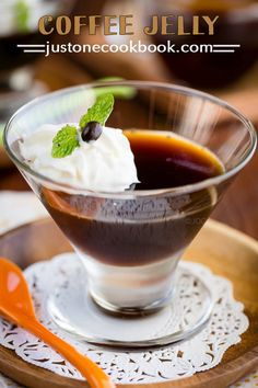 Coffee Jelly (コーヒーゼリー) | Easy Japanese Recipes at JustOneCookbook.com