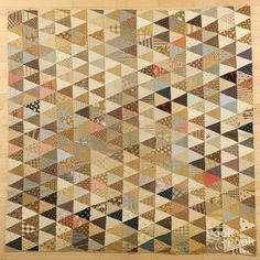 York County, Pennsylvania Thousand Pyramids patchwork quilt, late 19th c., 78'' x 78''.