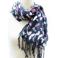 Charcoal Butterfly Print Scarf for Women Butterfly Print, Womens Scarves, Charcoal, Jewellery, Accessories, Fashion, Moda, Jewels, Fashion Styles