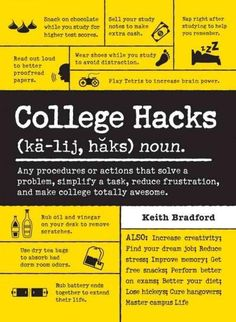 Hacks every college student needs to know! Want to ace your next exam? Claim victory as a beer pong champ? Remove that gross stain from your shirt before your interview? College Hacks gives you the tr