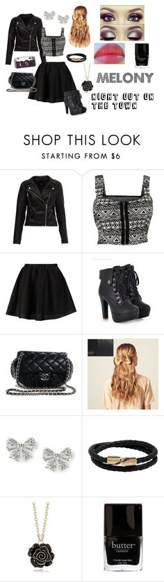 """""""Bring On The Night"""" by chaoticxbeauty ❤ liked on Polyvore featuring ONLY, Chanel, Veja, Hershesons, Mulberry and Revlon"""