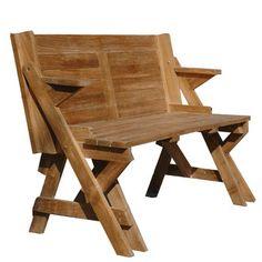 Table de jardin pique nique / Banc Teck Brut MAGIQUE port offert