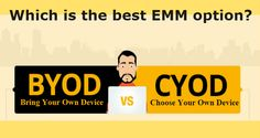 BYOD or CYOD: Which is the best EMM option? #BYOD #CYOD