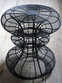 Rockett St. George Wire Design Stool/Side Table.