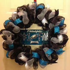 Philadelphia Eagles Wreath, Eagles Decor, Eagles Fans, NFL