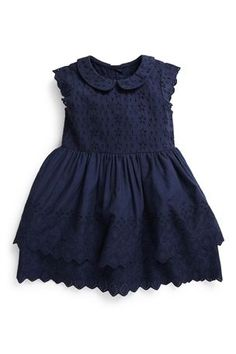 Buy Navy Broderie Dress (3mths-6yrs) from the Next UK online shop