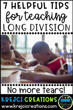 Do you struggle with teaching long division? It can be one of the most difficult skills for students to learn no doubt! Learn 7 tips to help you and your students succeed and master long division. Long Division Strategies, Long Division Activities, Teaching Long Division, Division Games, Math Strategies, Teaching Tips, Teaching Math, Math Tutor, Math Education