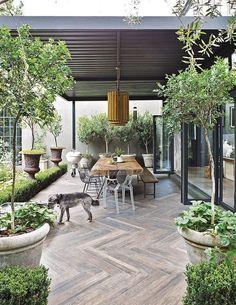 Backyard Porch Ideas On A Budget Patio Makeover Outdoor Spaces > Backyard Garden Design, Terrace Garden, Backyard Patio, Backyard Landscaping, Desert Backyard, Potager Garden, Wood Patio, Garden Paths, Indoor Garden