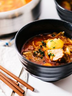 Pork belly kimchi stew from @iamafoodblog