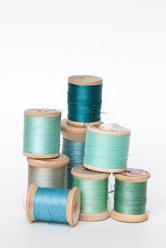 Thread Spools - aqua | by a²(w) - asquaredw - Ali