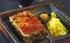 Bobotie par Julie Andrieu Chutney, Le Curry, Alain Ducasse, Meatloaf, Lasagna, Ethnic Recipes, Food, Ground Meat, Dried Fruit