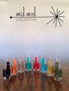 Retro glasses in the Eames color palette. Available now at Mid Mod Collective. Email midmodcollective@gmail.com for more info. SOLD!