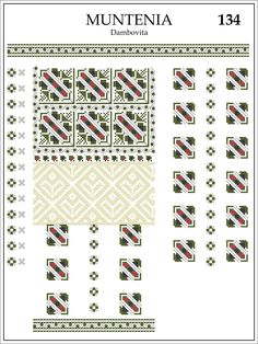 Muntenia, Dambovita Folk Embroidery, Learn Embroidery, Embroidery Patterns, Cross Stitch Patterns, Knitting Patterns, Modern Embroidery, Knitting Storage, Knitting Needle Sets, Circular Knitting Needles