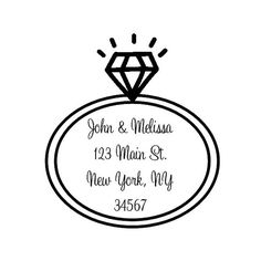 Custom wedding stamp, return address stamp, save the date stamp, wedding invitation stamp