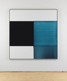 Callum Innes | Exposed Painting Blue Lake | 2014 | oil on canvas | 180 x 175 cm Art Basel | Hong Kong