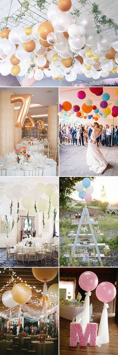 50 awesome balloon wedding ideas jumbo balloons reception and 45 creative fun ways to incorporate balloons into your big day wedding reception junglespirit Choice Image