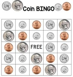 printable coin bingo cards when computers sing money talks pinterest. Black Bedroom Furniture Sets. Home Design Ideas