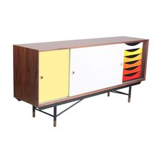 This would be a great addition to my home office! Gradient Color Sideboard | dotandbo.com