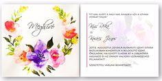 """Grafikai munkák; logo és arculat, egyedi, akár kézzel készített esküvői-, ballagási meghívók, névjegykártyák, plakátok,  szórólapok tervezése.Gyermekszoba festés, portrérajzolás. - Egyedi esküvői meghívó készítés -  """"A művészet számomra mindig felfedezés. Leleplezés, újraszületés, újrafeltalálá..."""