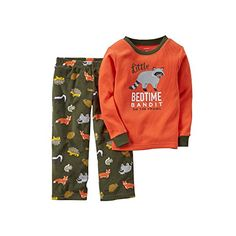 Carters Baby Boys Thermal  Microfleece Pajama Set 12 Months Raccoon * Click on the image for additional details.