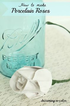 How to make Porcelain Roses !