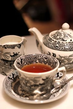 The cup of tea on arrival at a country house is a thing which, as a rule, I particularly enjoy. I like the crackling logs, the shaded lights, the scent of buttered toast, the general atmosphere of leisured coziness. ~P.G. Wodehouse