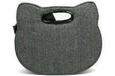 Grey Cat Clutch