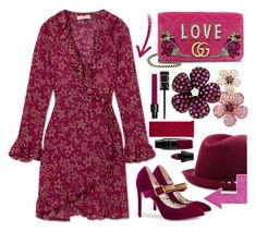 """""""Humble"""" by sunnydays4everkh ❤ liked on Polyvore featuring Paloma Blue, Gucci, Effy Jewelry, Valentino, NARS Cosmetics and Lancôme"""