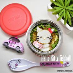 Karenwee's Bento Diary: Bento2015#Apr21~Hello Kitty Fishball