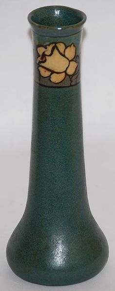 Saturday Evening Girls Pottery Bud Vase (Decorated by Albina Mangini) from Just Art Pottery