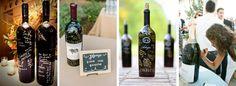 Butelka wina jako księga gości