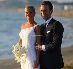 Maria in abito da sposa dell'Atelier Elena Colonna