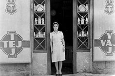 An old milk and butter store in Budapest in the 1960's