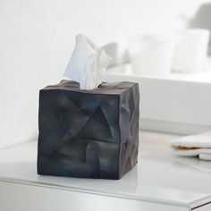 Crinkle Tissue Box Cover / The Essey Crinkle Tissue Box Cover is a clever little. Crinkle Tissue Box Cover / The Essey Crinkle Tissue Box Cover is a clever little creation that takes something Tissue Box Covers, Tissue Boxes, Tissue Holders, Cubes, Bathroom Accessories, Home Accessories, Kleenex Box, Cosmetic Box, Kartell